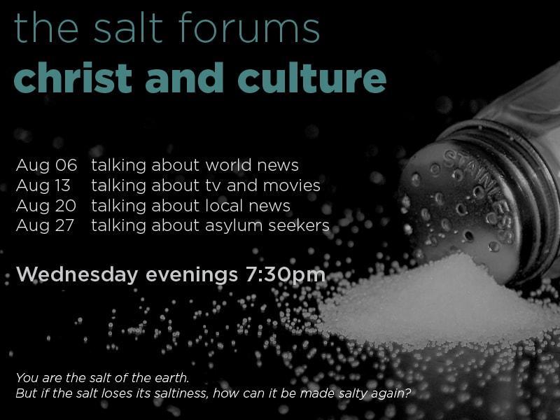 SALT forums - Christ and culture