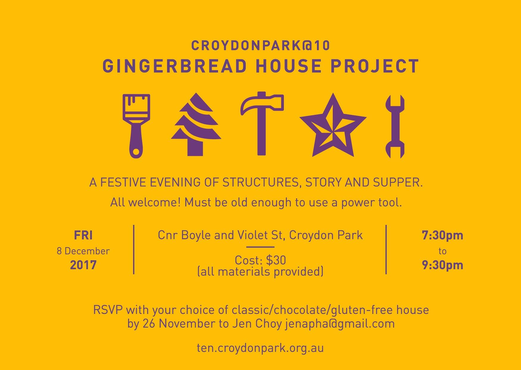 Gingerbread House Project: calling all men and women builders and decorators!