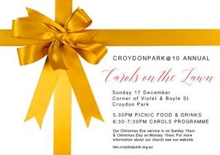 Carols on the Lawn: Sunday 17 December, from 5:30pm