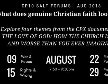 August 2018 Salt Forum – Faith In Action; what does genuine Christian faith look like?