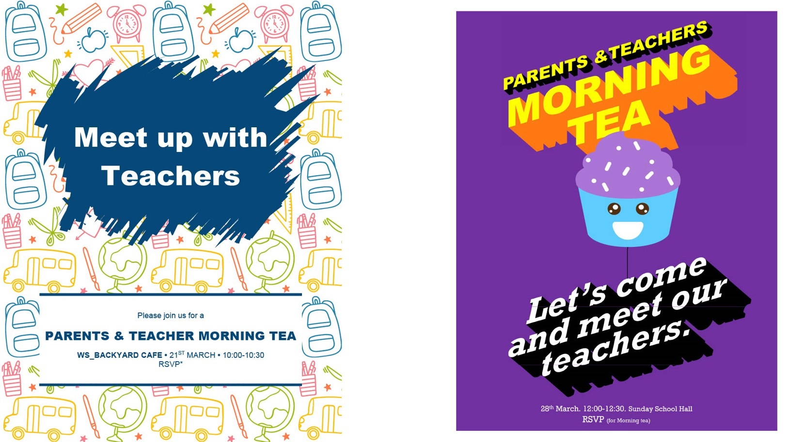 Join our Parents and Teachers Morning Tea on March!